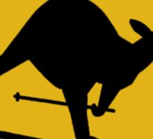 Skiing kangaroo Sticker