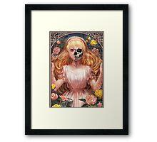 Little Zombie Girl in Garden Framed Print