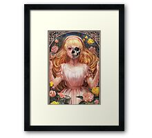 Little Zombie Girl in Garden Framed Print