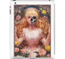 Little Zombie Girl in Garden iPad Case/Skin