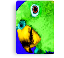 green bird Canvas Print
