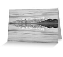Badwater Reflection Greeting Card
