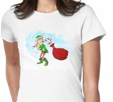 Christmas Elf  Womens Fitted T-Shirt