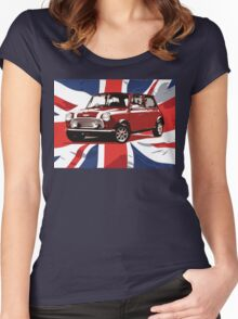 Cool Britannia Austin Mini  Women's Fitted Scoop T-Shirt