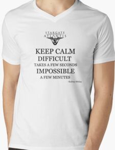 Keep Rodney McKay Mens V-Neck T-Shirt