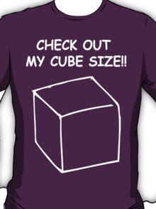 Cube size T-Shirt
