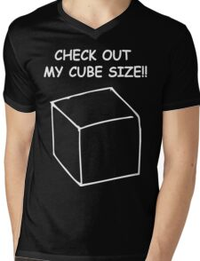 Cube size Mens V-Neck T-Shirt