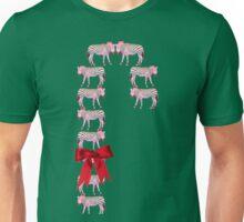 'Candy Cane Zebra' Candy Cane Unisex T-Shirt