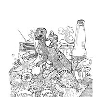 dinosaurs in the soda by CappinGeraldine