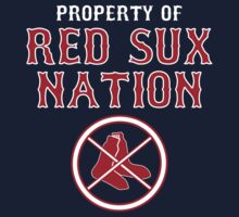 Hate the Boston Red Sox Property of Red Sux Nation T Shirt by xdurango