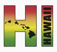Hawaii HI in Rasta Colors by robotface