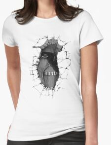Titan in the wall Womens Fitted T-Shirt