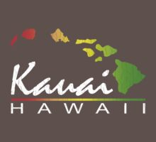 Kauai Hawaiian Islands (vintage distressed design) Kids Clothes