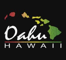 Oahu Hawaiian Islands (vintage distressed designs) by robotface