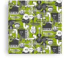weave jazz olive Canvas Print