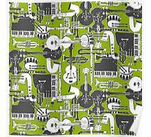 weave jazz olive Poster