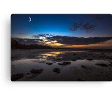 Binstead Beach Moon Canvas Print