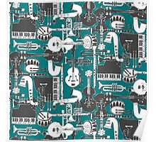 weave jazz teal Poster