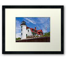 Point Betsie Light Framed Print