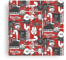 weave jazz red Canvas Print