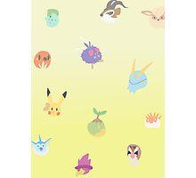 chibi pokemon - yellow Photographic Print