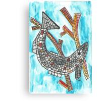 Mosaic Fish II Canvas Print