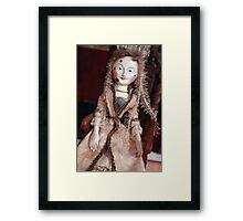 Rare Collectable Victorian Vintage Doll Framed Print