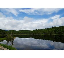 Calm Lake, Turbulent Sky Photographic Print