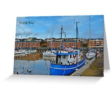 Milford Marina Thank You Card Greeting Card