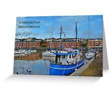 Milford Marina Postcard or Greetings Card Greeting Card