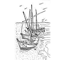 4 Sail Boats Photographic Print