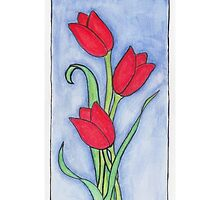 Red Tulips by Scruffy Mouse