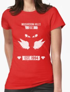Mushroom Hills Gym Womens Fitted T-Shirt
