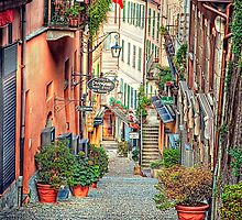 Street in Bellagio. by Lyn Darlington