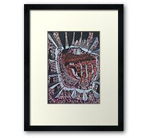 abstract hand. color scheme collection Framed Print