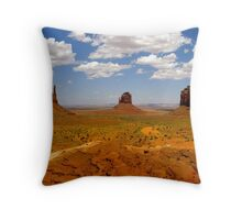 Monument Valley Landscape Throw Pillow