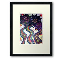 'Psychadelic Sunflowers' Framed Print