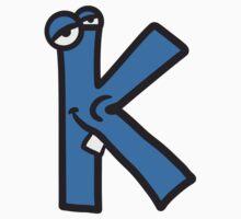 Letter K comic face funny monsters T-Shirt