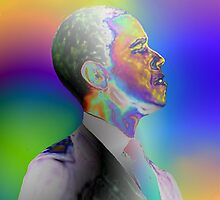 The Fading Colored President by eon .