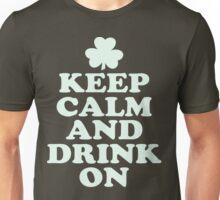 Keep Calm and Drink On Shamrock St. Patricks Day T Shirt Unisex T-Shirt