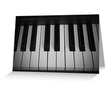 Keys Of Black and White  Greeting Card
