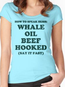 Whale Oil Beef Hooked St. Patricks Day Shirt  Women's Fitted Scoop T-Shirt