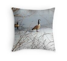 Cool Geese Throw Pillow