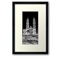 ©MS San José Temple VAS Monochromatic c Framed Print