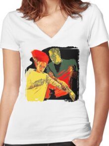 The Bride's First Impression Women's Fitted V-Neck T-Shirt