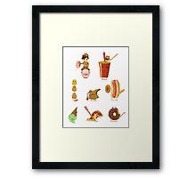 Junk Food Army Framed Print