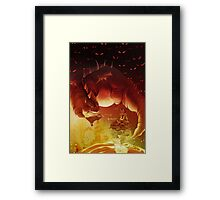 Study Hard Framed Print