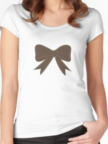 Brown bow Women's Fitted Scoop T-Shirt