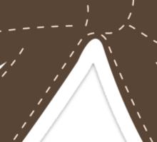 Brown bow Sticker