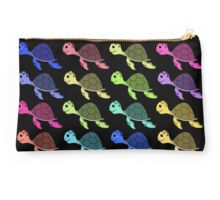 Rainbow turtles Studio Pouch